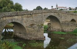 Roman bridge, Arcos, Portugal Stock Images