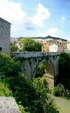 Roman bridge in Ascoli. Still in use, roman bridge in Ascoli , italy Royalty Free Stock Images