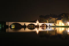Roman bridge in Avignon Royalty Free Stock Images