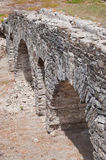 Roman bridge in Baelo Claudia's ruins Royalty Free Stock Images