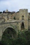 Roman bridge in Besalú 1 Stock Photos
