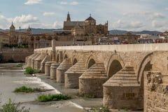 Roman bridge of Córdoba. Daytime view without tower Royalty Free Stock Photography