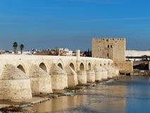 Roman bridge and calahorra tower in Cordoba, Andalusia, Spain Stock Images