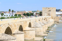 Roman Bridge and the Calahorra tower in Cordoba. Spain Stock Photo