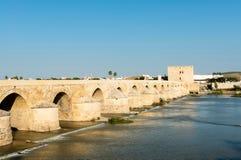 Roman bridge and Calahorra Tower in Cordoba Royalty Free Stock Images