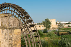 Roman bridge and Calahorra Tower in Cordoba Stock Photos