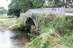 Roman bridge at Camino de Santiago Royalty Free Stock Photo