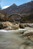 Roman bridge in Ceppo Morelli. Piemonte Italy Royalty Free Stock Photo