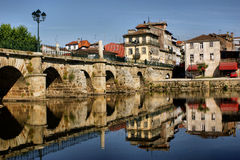 Roman bridge of Chaves Stock Image