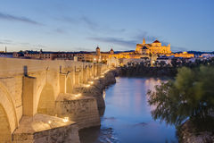 Roman bridge in Cordoba, Andalusia, southern Spain. Royalty Free Stock Images