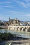 Roman bridge in Cordoba, Andalusia, southern Spain. royalty free stock image