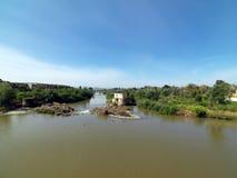The Roman Bridge of Cordoba, Andalusia, Spain. April 3, 2015 royalty free stock photo