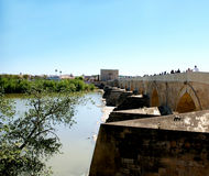 The Roman bridge of Cordoba. Is located on the Guadalquivir River. Andalusia. Spain stock photography
