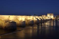 Roman Bridge of Cordoba at night Royalty Free Stock Image