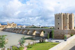 Roman bridge of Cordoba Stock Photos