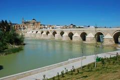Roman bridge, Cordoba, Spain. royalty free stock image