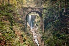 Roman Bridge. Of Croina, Ledro Valley Italy Royalty Free Stock Photos