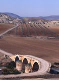 A Roman bridge crosses the Afrin River in northern Stock Image