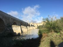 The roman bridge & tower in Cordoba II royalty free stock photography