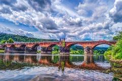 Roman Bridge dans le Trier Photographie stock libre de droits