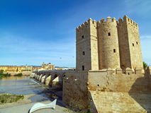 Roman Bridge de Cordoue, Andalousie, Espagne 3 avril 2015 Photo stock