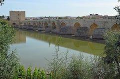 Roman Bridge di Cordova, Andalusia, Spagna fotografie stock libere da diritti