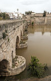 Roman bridge of Emerita Augusta Royalty Free Stock Image