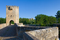 Roman bridge in Frias Stock Photography
