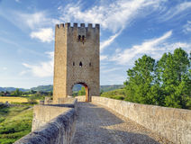 Roman bridge, Frias, Burgos, Castilla y Leon, Spai Stock Image