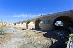 Roman Bridge and Guadalquivir river, Great Mosque, Cordoba, Andalusia,. Spain royalty free stock images