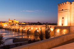 Roman Bridge and Guadalquivir river, Great Mosque, Cordoba, Spai Royalty Free Stock Photos