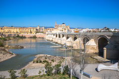 Roman Bridge and Guadalquivir river, Great Mosque, Cordoba, Spai Royalty Free Stock Image