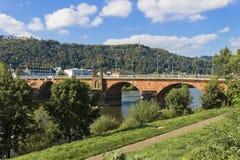 Roman Bridge i Trier Arkivbilder