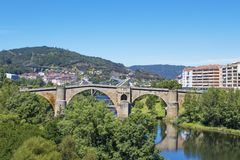 Roman bridge, landscape Stock Photography
