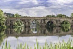 Roman bridge of lugo royalty free stock photography