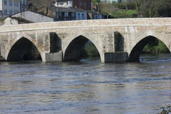 Roman bridge in Lugo Spain Royalty Free Stock Photography