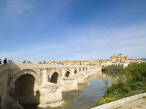 Roman Bridge of Malaga, Spain 2015 Royalty Free Stock Images
