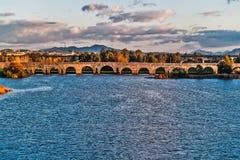 Roman bridge in Merida Stock Image