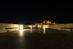 Roman bridge and Mosque-Cathedral in Cordoba Royalty Free Stock Photo