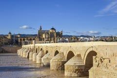 Roman bridge and Mosque -Cathedral - Cordoba, Spain Royalty Free Stock Photo