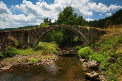 Roman bridge near Batak dam, Bulgaria Stock Photography