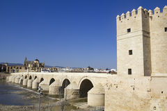 Roman bridge over the Guadalquivir river Royalty Free Stock Image