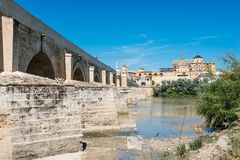 Roman Bridge over Guadalquivir River Stock Photography