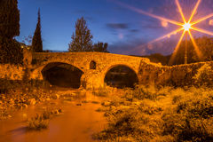 Roman bridge in Pollenca Royalty Free Stock Photo