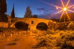 Roman bridge in Pollenca Royalty Free Stock Photo