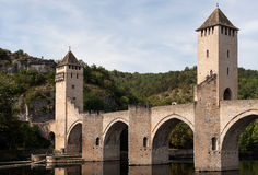 Roman Bridge - Pont Valentre royalty free stock photography