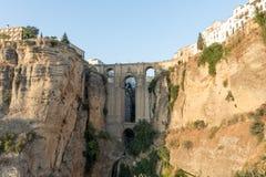 Roman Bridge Puente Nuevo Ronda, Espagne Photographie stock libre de droits