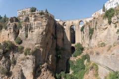 Roman Bridge Puente Nuevo Ronda, Espagne Images stock