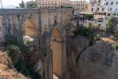 Roman Bridge Puente Nuevo Ronda, Espagne Image stock