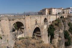 Roman Bridge Puente Nuevo Ronda, Espagne Images libres de droits
